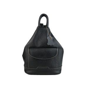 mochila de piel antirrobo bolsillo negra