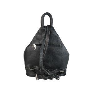mochila de piel antirrobo negra 1