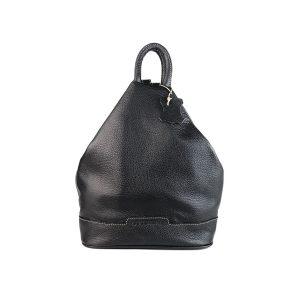 mochila de piel antirrobo negra