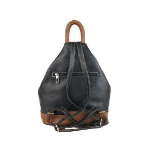 mochila de piel antirrobo negra y cuero 1