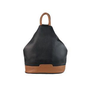 mochila de piel antirrobo negra y cuero