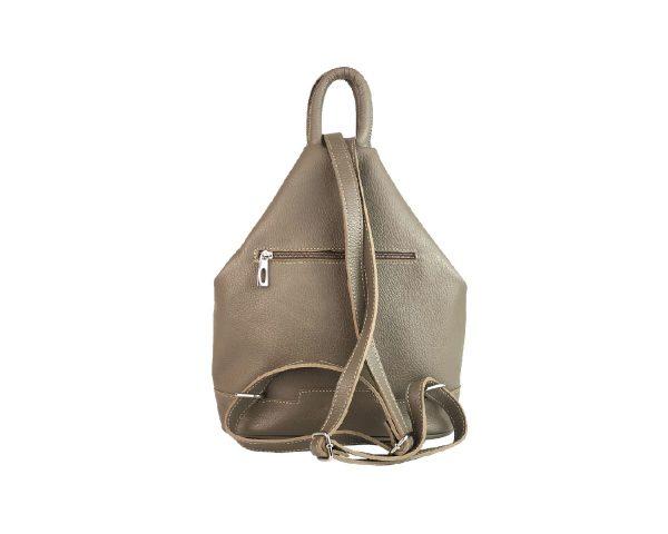 mochila de piel antirrobo taupe 1