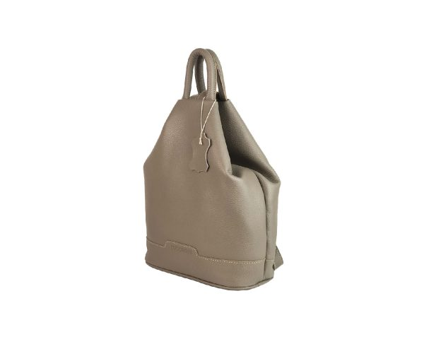 mochila de piel antirrobo taupe 2