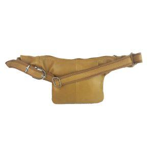 riñonera de piel amarillo mostaza casual 1