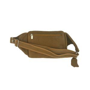 riñonera de piel camel bolsillo tupí 1