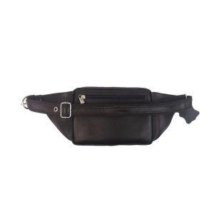 riñonera de piel marrón oscuro bolsillo tupí 1