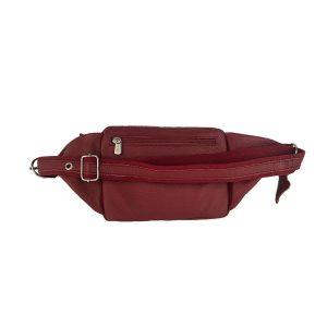 riñonera de piel rojo bolsillo tupí 1
